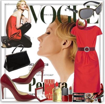 С чем носить красное платье – фото