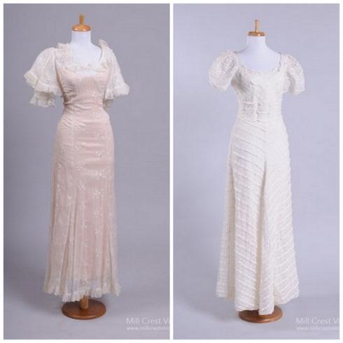 Свадебные платья 50-х годов фото.