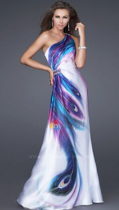 2015 V-образным вырезом Bubble плеча A-Line атласные вечерние платья длиной до пола