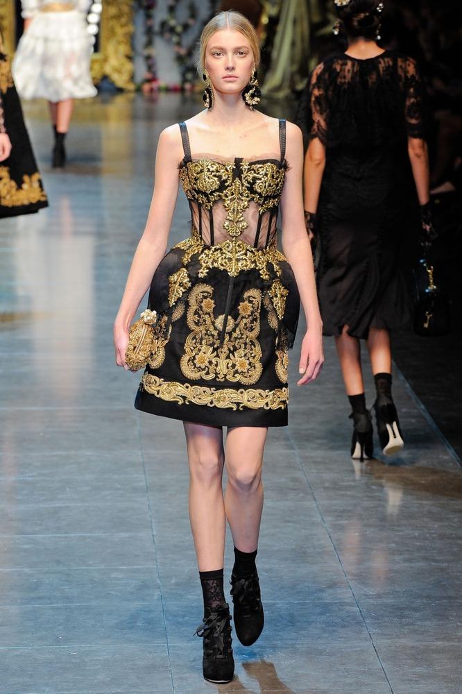 Платья Dolce & Gabbana - осень-зима 2012-2013