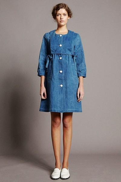 Джинсовое платье-рубашка - Colenimo