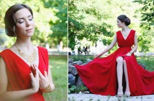 выпускница в красном платье 2013 год