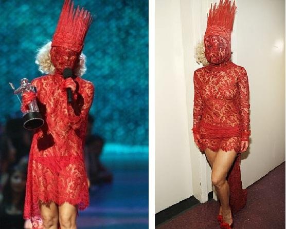 Фото леди гага красное платье