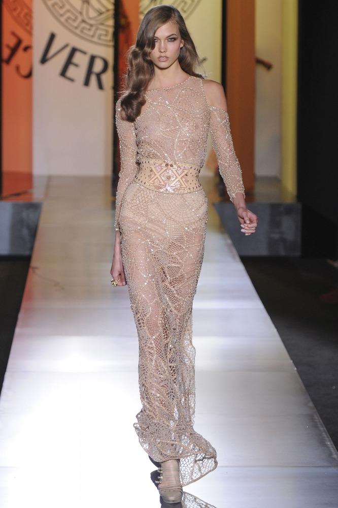 Длинные ажурные платья - Versace