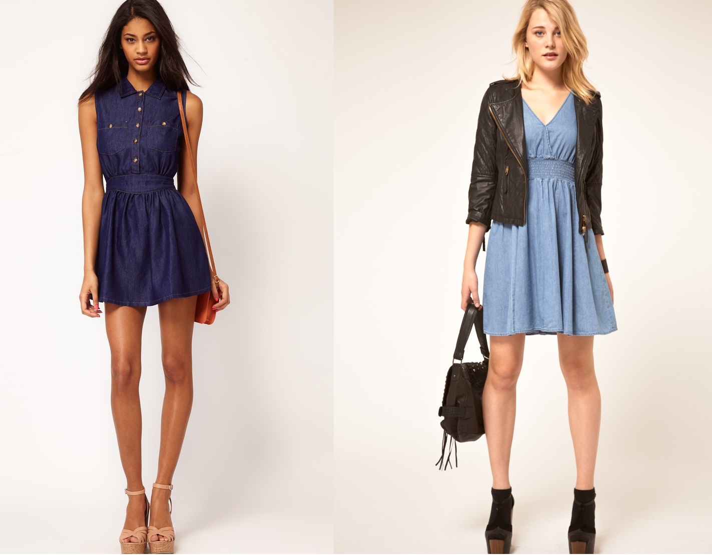 Купить джинсовое платье или юбку