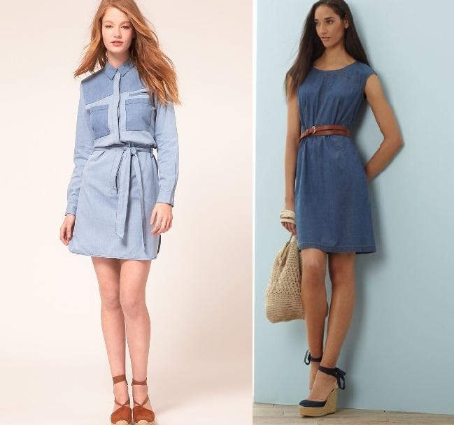 Модные джинсовые платья | Платья из