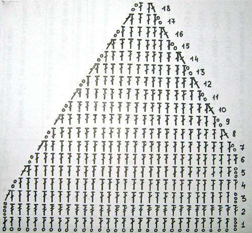 Левую часть вязать симметрично