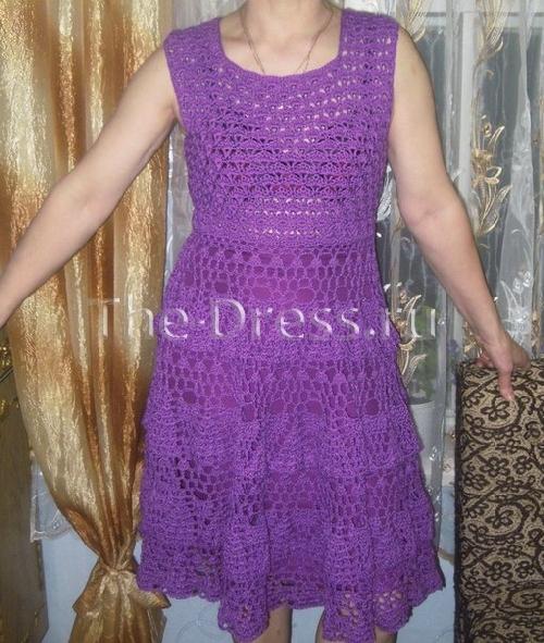 Автор ажурного платья и фото
