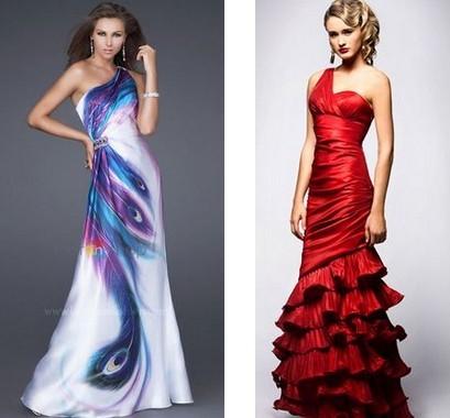 Шикарные платья с одним плечом