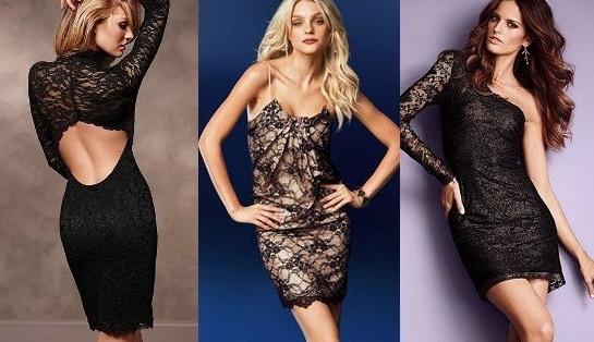 Короткие кружевные платья фото