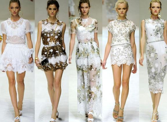 Модные платья гипюр