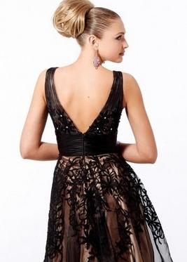 Чёрные кружевные платья фото