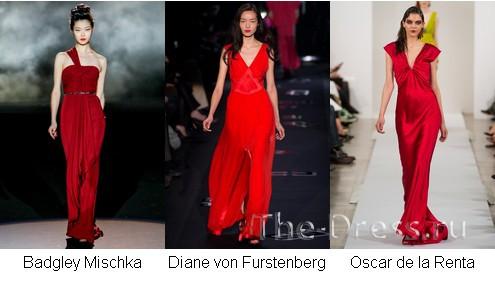 красное платье трикотажное