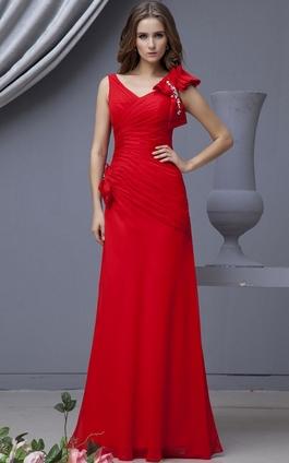 Длинные вечерние красные платья фото