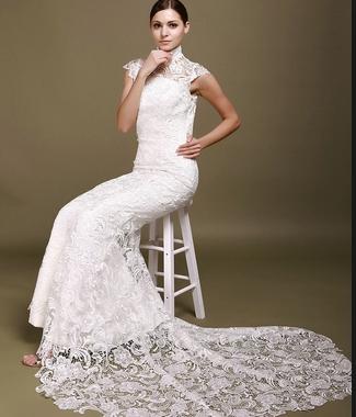 Кружевные свадебные платья – фото