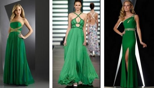 Большинство женщин надевают длинные платья в пол довольно редко: на выпускной... Зеленый имеет множество удачных