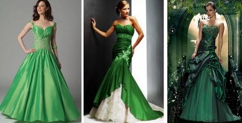 Салатовое платье пышное