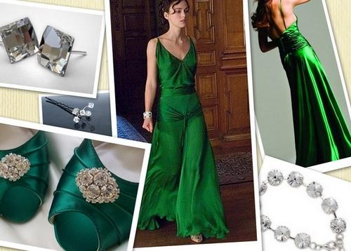 Какая обувь подходит для зеленого платья