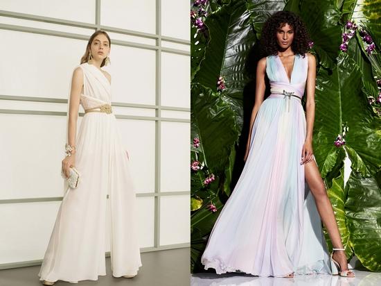 Вечерние светлые платья фото