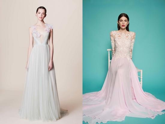 Светлые длинные платья в пол